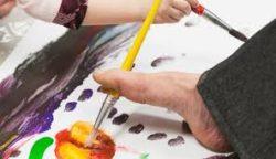 malowanie stopą